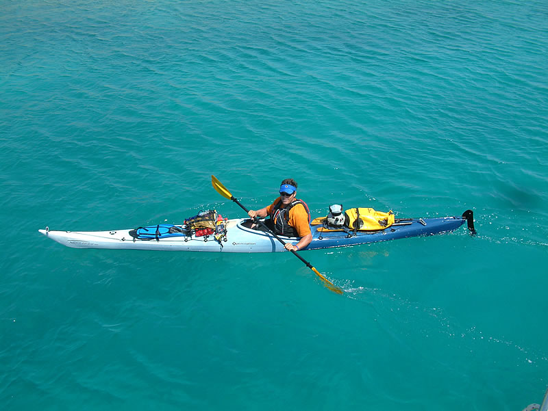 sea kayakin, paddling, swimming, Adriatic Sea, Zlarin Island, Sibenk, Croatia