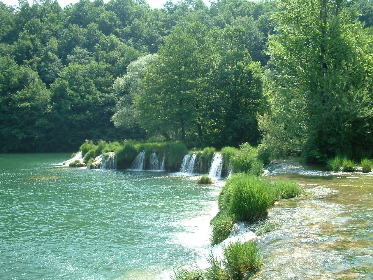 Zvecaj village, Mreznica river, Zvecaj,  waterfalls, swimming, Croatia