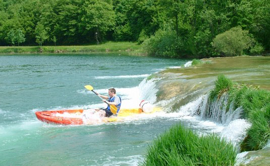 Canoeing, kayaking, Mreznica, waterfall, journey, swimming, Croatia