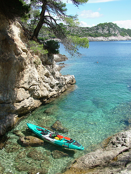 Sea Kayaking, Lopud-Sunj, hiking, Lopud village, beach, Dubrovnik, Croatia