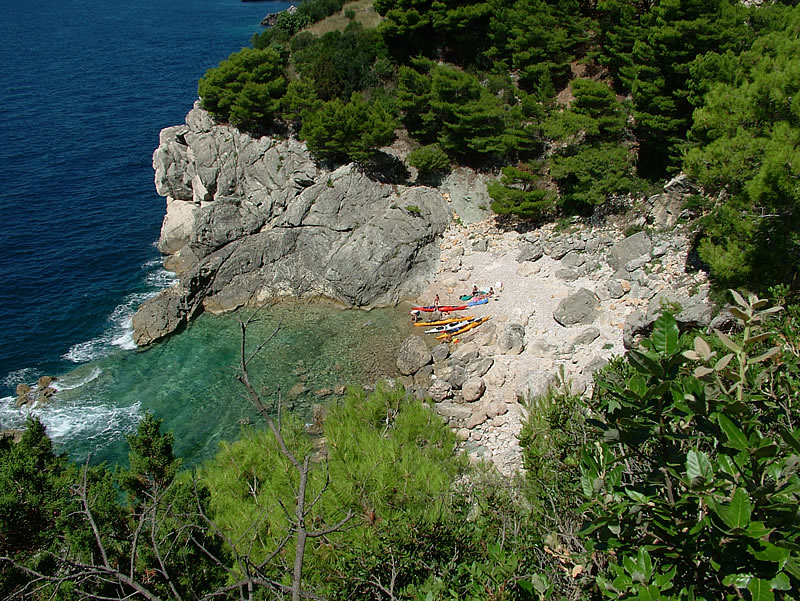 Dubrovnik, rocks, beaches, cliffs, caves, dolphins, Croatia