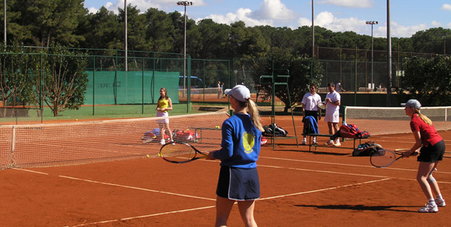 Tennis playground, tennis, playing, tennis center, beach Soline, Biograd