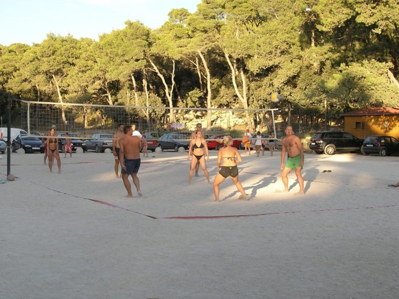 sandy beach, beach Soline, beach Bosana, beach volleyball, playground, biograd