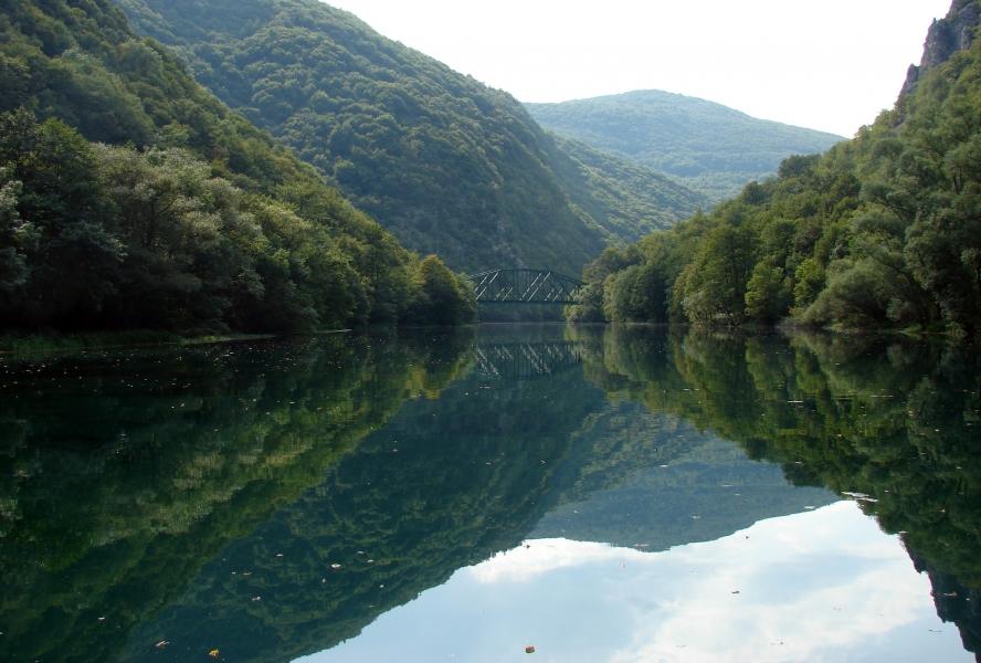 River Una, trekking, clear water, Bosnia and Herzegovina,