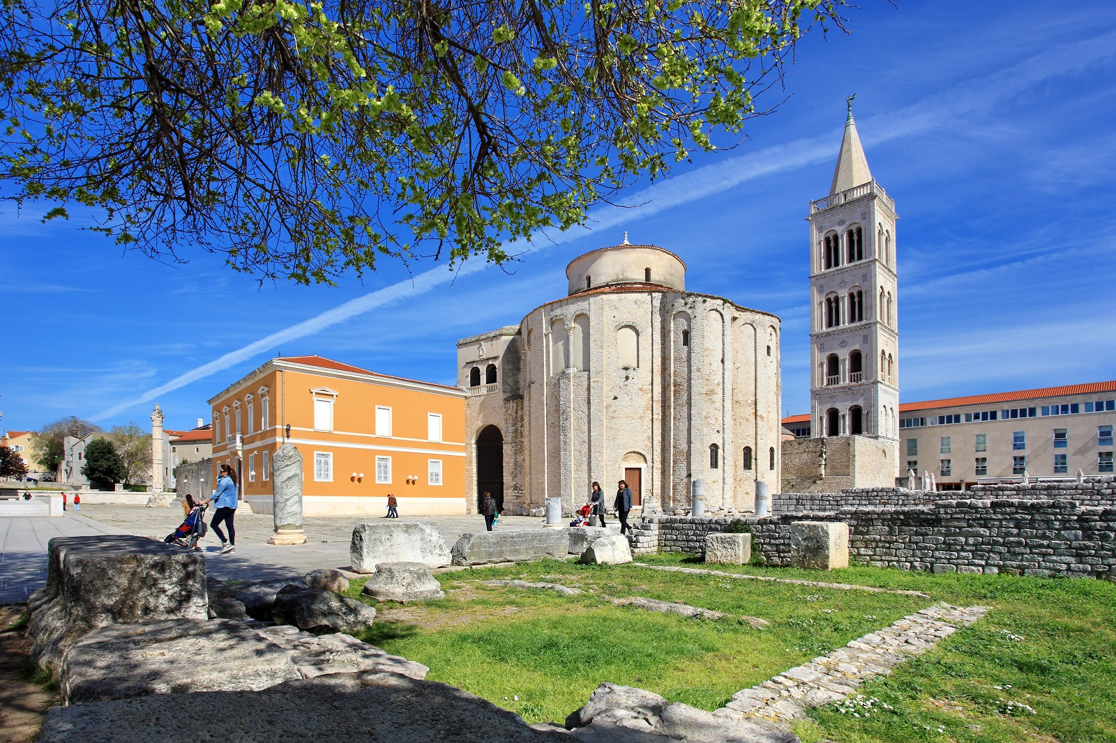 Zadar, See Organ, St Donat's church, excursions, activity trips,  walking, Croatia