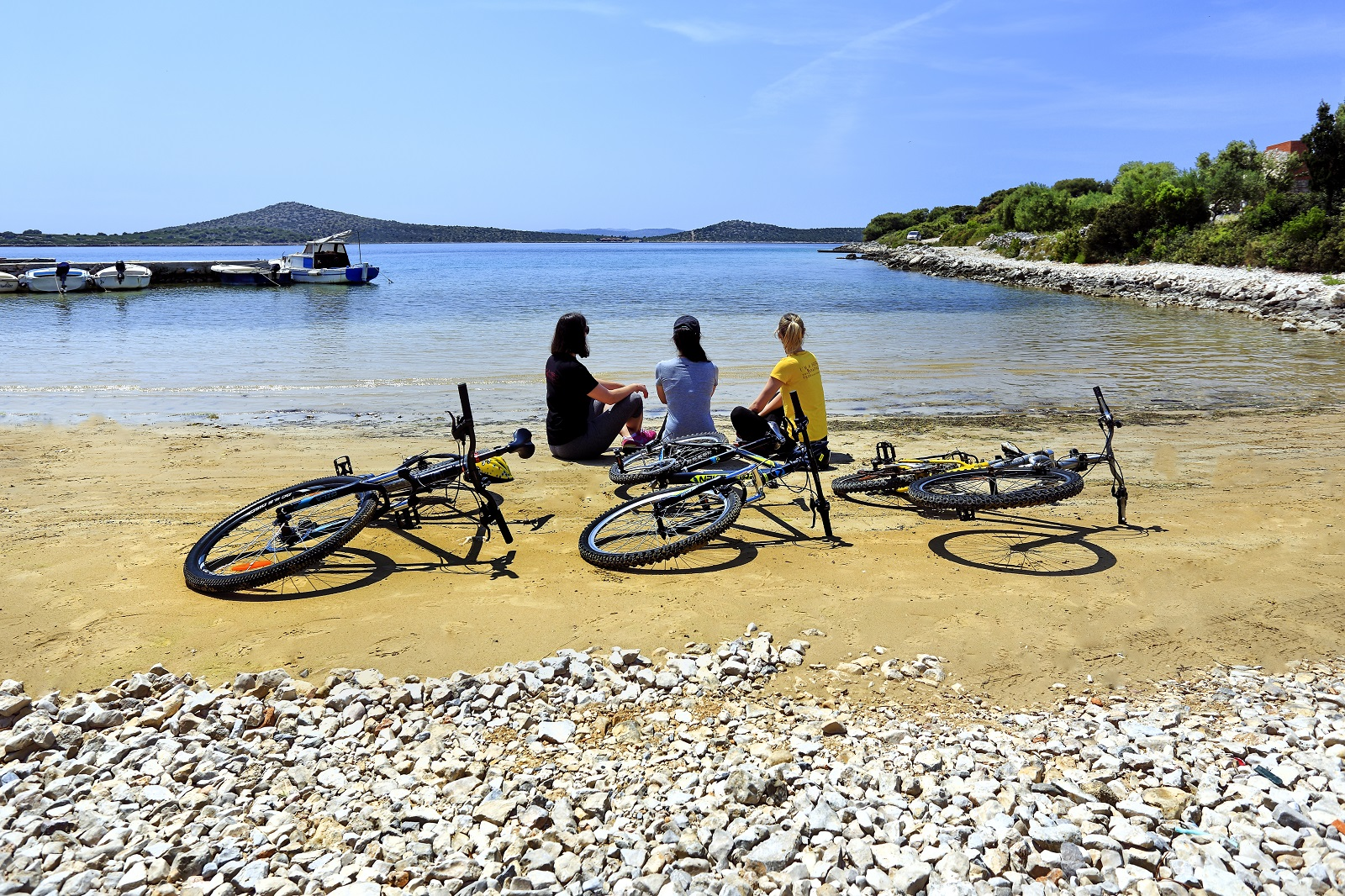 Cycler, bicycle, cyclists, bike, bicycle routes, biograd